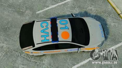 Ford Focus Metropolitan Police [ELS] pour GTA 4 est un droit