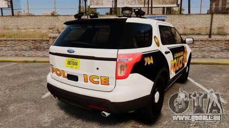Ford Explorer 2013 LCPD [ELS] v1.5X pour GTA 4 Vue arrière de la gauche