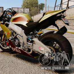 Aprilia RSV4 für GTA 4 linke Ansicht