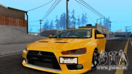 Mitsubishi Lancer X Evolution für GTA San Andreas