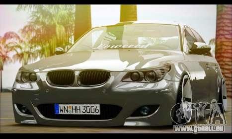 BMW M5 E60 Vossen pour GTA San Andreas sur la vue arrière gauche