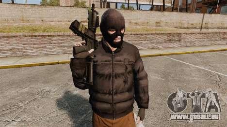 Automatique M4 carbine pour GTA 4 cinquième écran