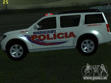 Nissan Pathfinder Polimaracaibo pour GTA San Andreas vue arrière