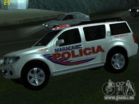 Nissan Pathfinder Polimaracaibo pour GTA San Andreas vue de droite