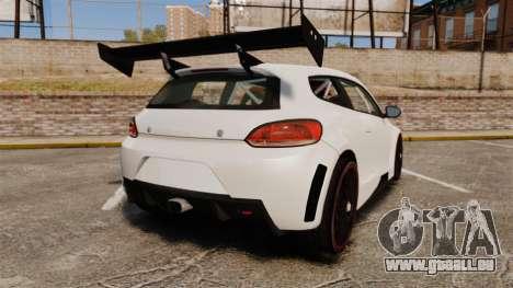 Volkswagen Scirocco pour GTA 4 Vue arrière de la gauche