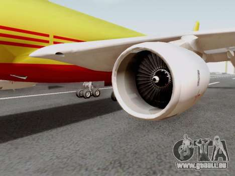 Airbus A340-600F DHL Buffalo für GTA San Andreas zurück linke Ansicht
