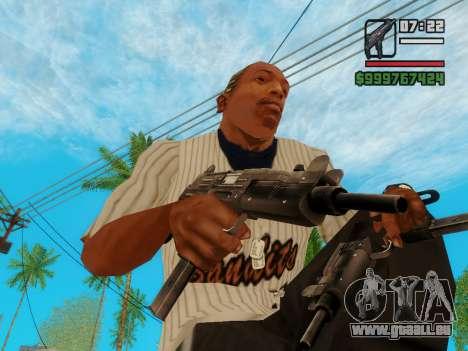 Die Maschinenpistole UZI für GTA San Andreas dritten Screenshot