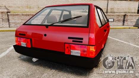 VAZ-Sat-2109 für GTA 4 hinten links Ansicht