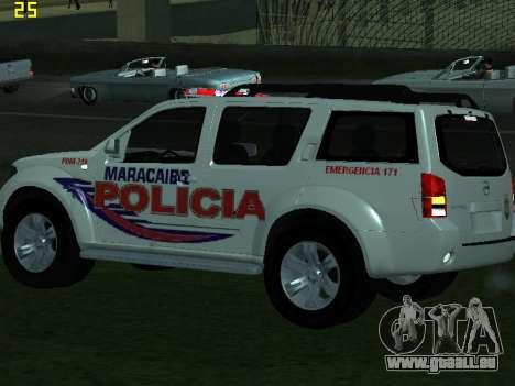 Nissan Pathfinder Polimaracaibo pour GTA San Andreas vue intérieure
