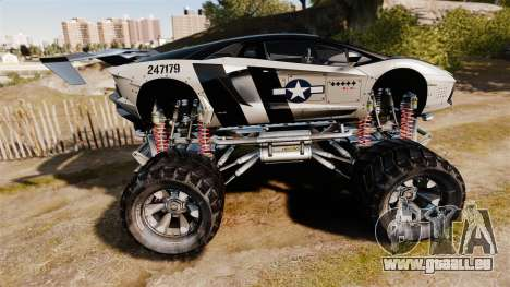 Lamborghini Aventador LP700-4 [Monster truck] für GTA 4 linke Ansicht