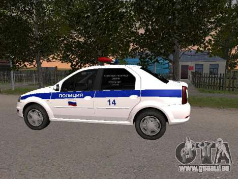 Renault Logan ДПС pour GTA San Andreas laissé vue
