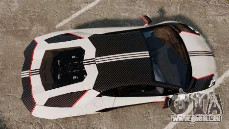 Lamborghini Aventador LP700-4 2012 Adidas Carbon pour GTA 4 est un droit