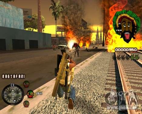 C-HUD Rastafari pour GTA San Andreas troisième écran