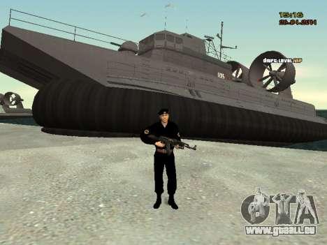 Le Corps des marines des forces armées pour GTA San Andreas quatrième écran