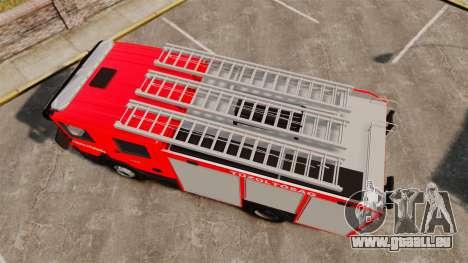 Hongrois camion de pompiers [ELS] pour GTA 4 est un droit