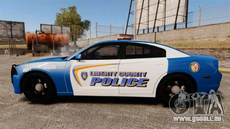 Dodge Charger 2013 Liberty County Police [ELS] für GTA 4 linke Ansicht