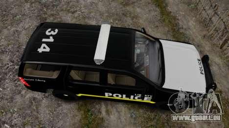 Chevrolet Tahoe 2008 LCPD [ELS] pour GTA 4 est un droit