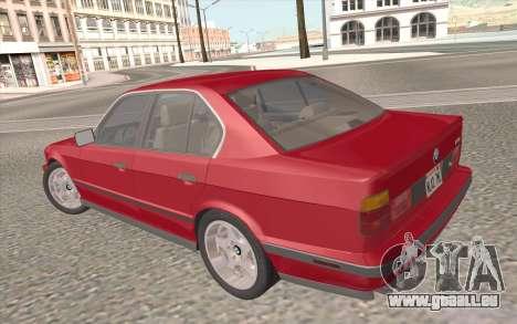 BMW M5 E34 1991 NA-spec für GTA San Andreas Motor