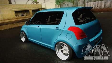 Suzuki Swift Hellaflush pour GTA San Andreas vue arrière