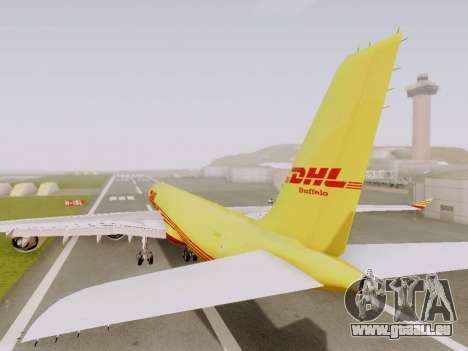 Airbus A340-600F DHL Buffalo pour GTA San Andreas vue arrière