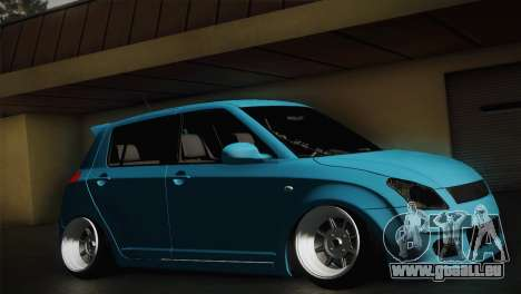 Suzuki Swift Hellaflush pour GTA San Andreas sur la vue arrière gauche