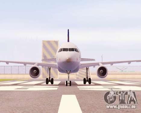 Airbus A320-200 Lufthansa für GTA San Andreas linke Ansicht