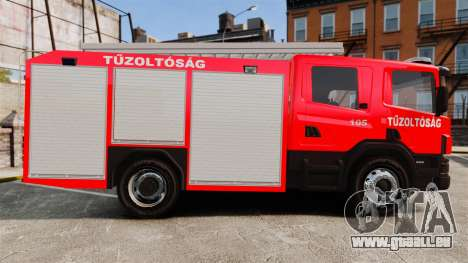 Hongrois camion de pompiers [ELS] pour GTA 4 est une gauche