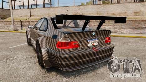 BMW M3 GTR 2012 Drift Edition für GTA 4 hinten links Ansicht