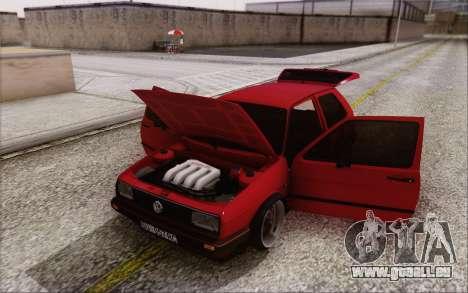 Volkswagen Golf Mk 2 pour GTA San Andreas vue arrière