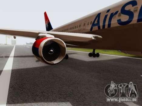 Boeing 767-300 pour GTA San Andreas sur la vue arrière gauche