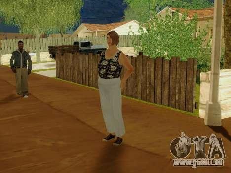 Une femme âgée v.2 pour GTA San Andreas troisième écran