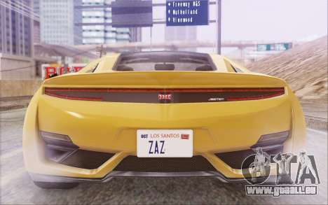 GTA V Dinka Jester IVF pour GTA San Andreas vue de côté