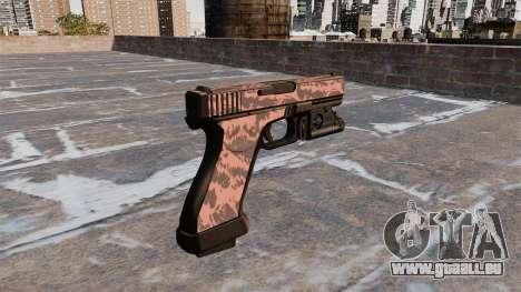 Pistole Glock 20 Roten Tiger für GTA 4 Sekunden Bildschirm