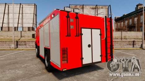 Hongrois camion de pompiers [ELS] pour GTA 4 Vue arrière de la gauche