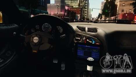 Mazda RX7 Veilside V8 pour GTA 4 est une vue de dessous