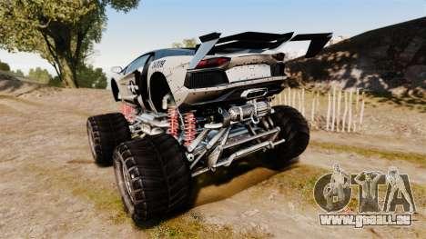 Lamborghini Aventador LP700-4 [Monster truck] für GTA 4 hinten links Ansicht