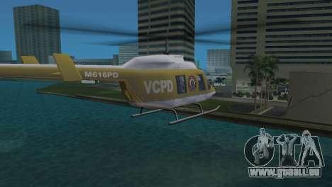 Polizei-Hubschrauber von GTA VCS für GTA Vice City zurück linke Ansicht
