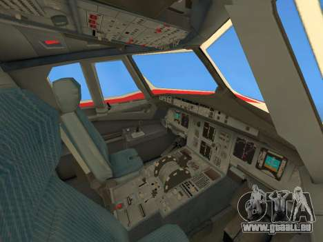Airbus A320 Avianca Columbia für GTA San Andreas Unteransicht