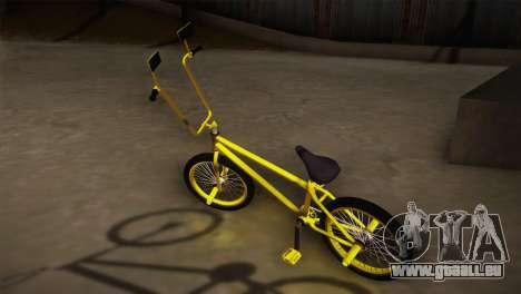 New BMX Yellow pour GTA San Andreas laissé vue
