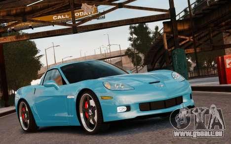 Chevrolet Corvette Grand Sport 2010 pour GTA 4 est un côté