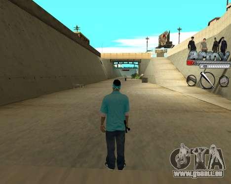 Agrandisseur de gamme entailles pour GTA San Andreas troisième écran