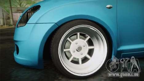 Suzuki Swift Hellaflush für GTA San Andreas rechten Ansicht