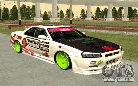 Nissan Skyline R-34 RDS pour GTA San Andreas