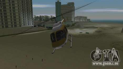 Polizei-Hubschrauber von GTA VCS für GTA Vice City Rückansicht