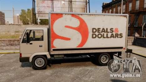 Maultier mit einer neuen Werbung für GTA 4 rechte Ansicht