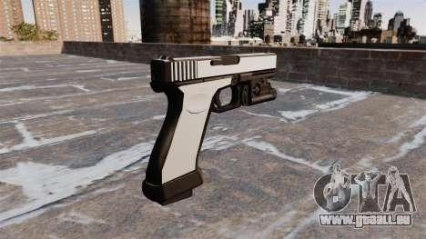 Pistole Glock 20 Chrom für GTA 4 Sekunden Bildschirm