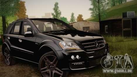 Mercedes-Benz ML63 für GTA San Andreas Innenansicht