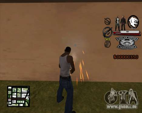 C-HUD Bikers für GTA San Andreas zweiten Screenshot