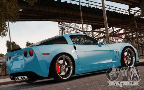 Chevrolet Corvette Grand Sport 2010 für GTA 4 Unteransicht