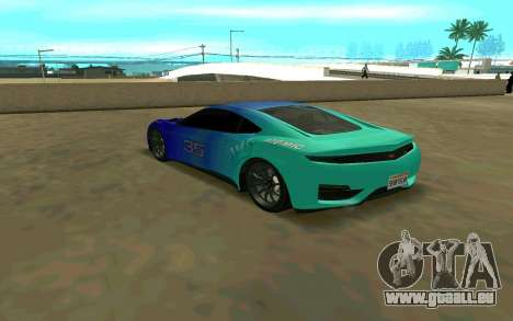 GTA V Dinka Jester für GTA San Andreas zurück linke Ansicht